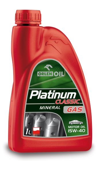 Двигателно масло PLATINUM CL.GAS 15W40 1L